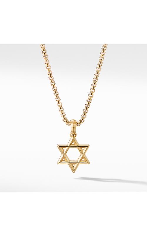 Modern Renaissance Star of David Pendant in 18K Yellow Gold product image