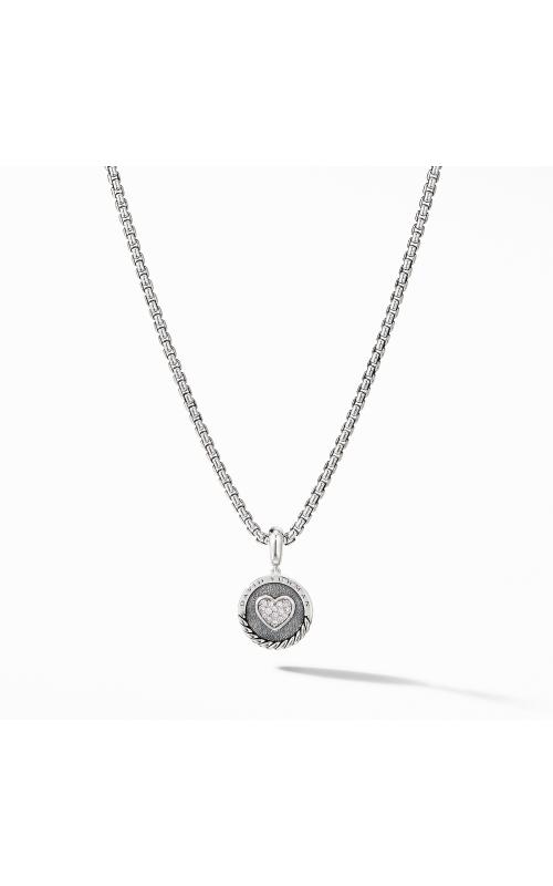 Heart Charm Pendant with Pavé Diamonds product image