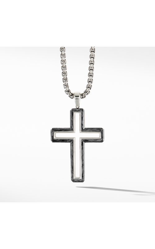 Forged Carbon Cross Pendant product image