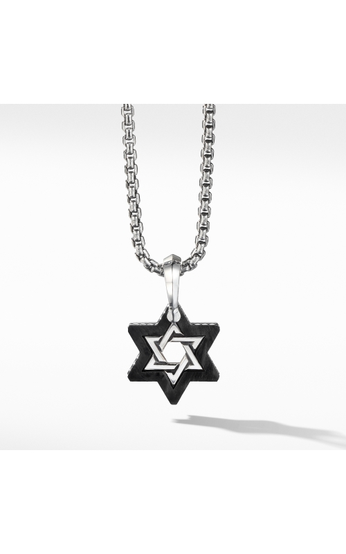 Forged Carbon Star of David Amulet product image