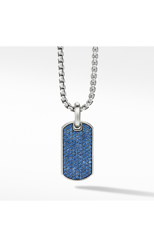 Streamline® Tag with Pavé Sapphires product image