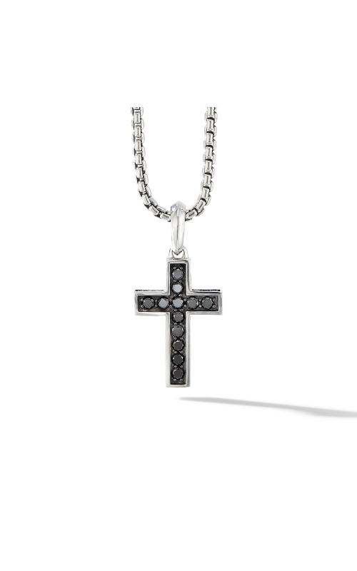 Cross Pendant with Pavé Black Diamonds product image