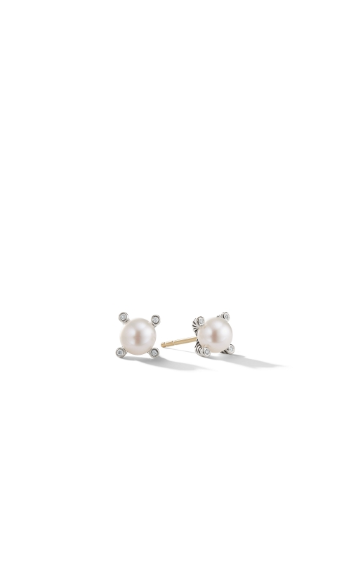 Pearl Earrings with Diamonds product image