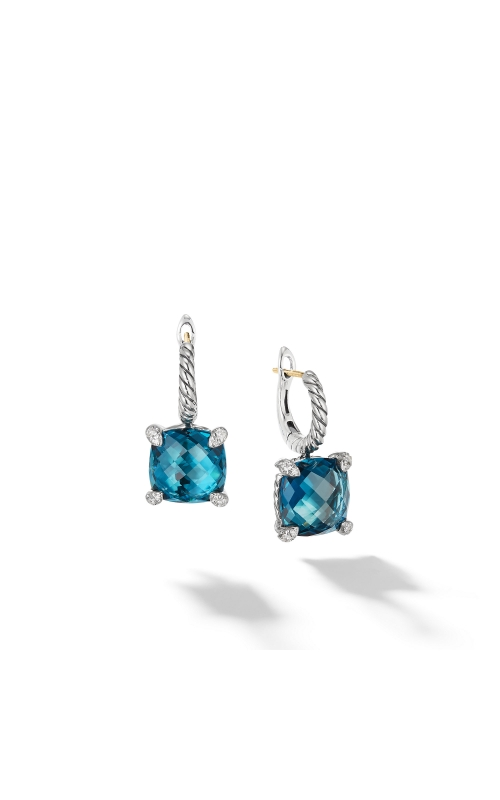 Drop Earrings with Hampton Blue Topaz and Diamonds product image