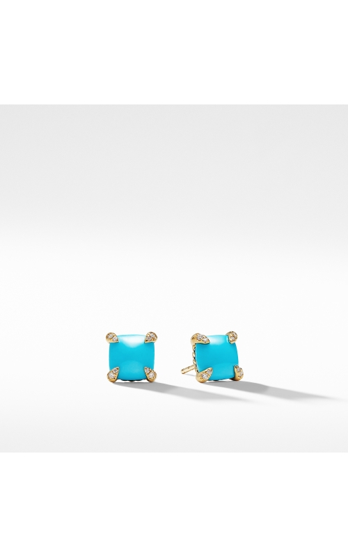 Chatelaine® Earrings with Turquoise in 18K Gold product image