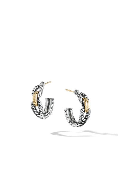 Cable Loop Hoop Earrings with 18K Gold product image