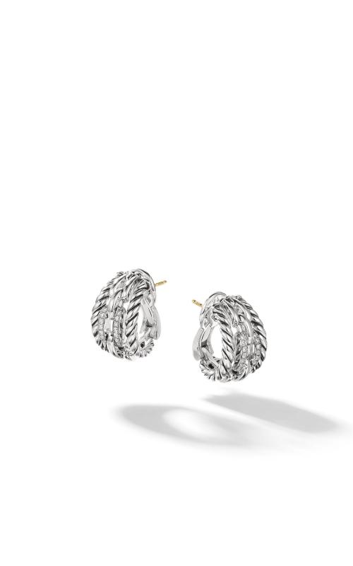 Wellesley Link Hoop Earrings with Diamonds product image