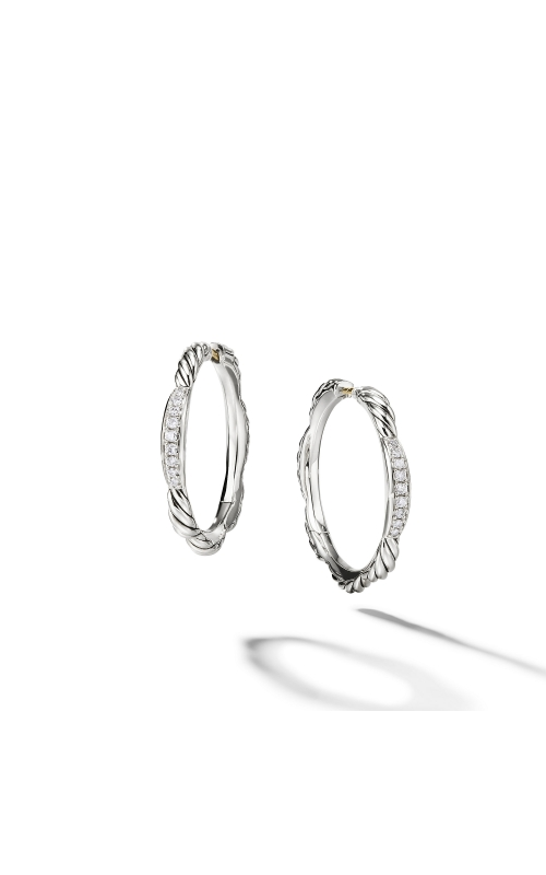 Tides Hoop Earrings with Diamonds product image