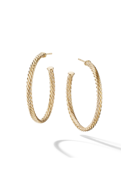 Medium Cablespira Hoop Earrings in 18K Yellow Gold product image