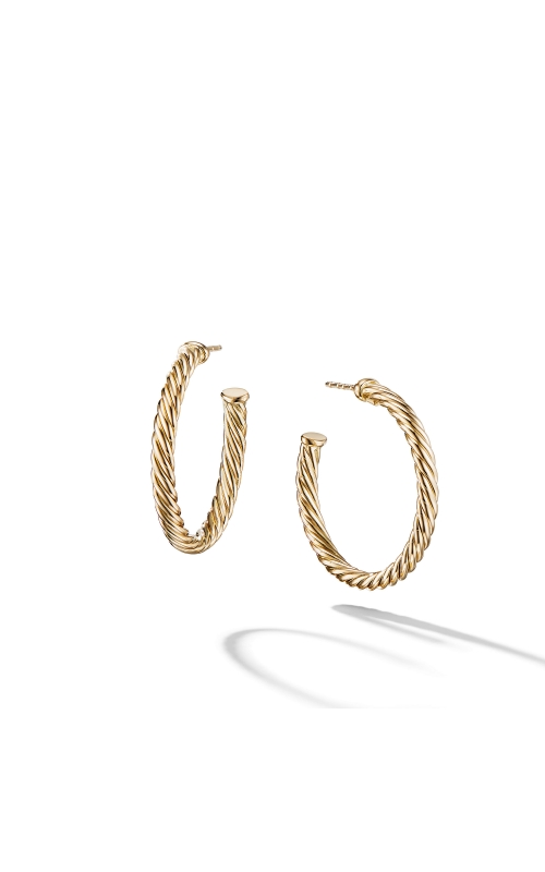 Cablespira Hoop Earrings in 18K Yellow Gold product image