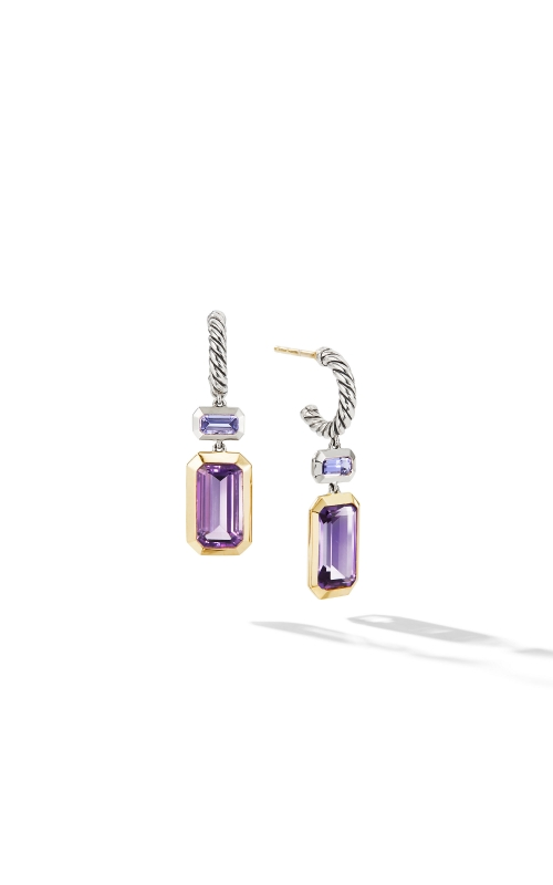 Novella Drop Earrings with Amethyst and 18K Yellow Gold product image
