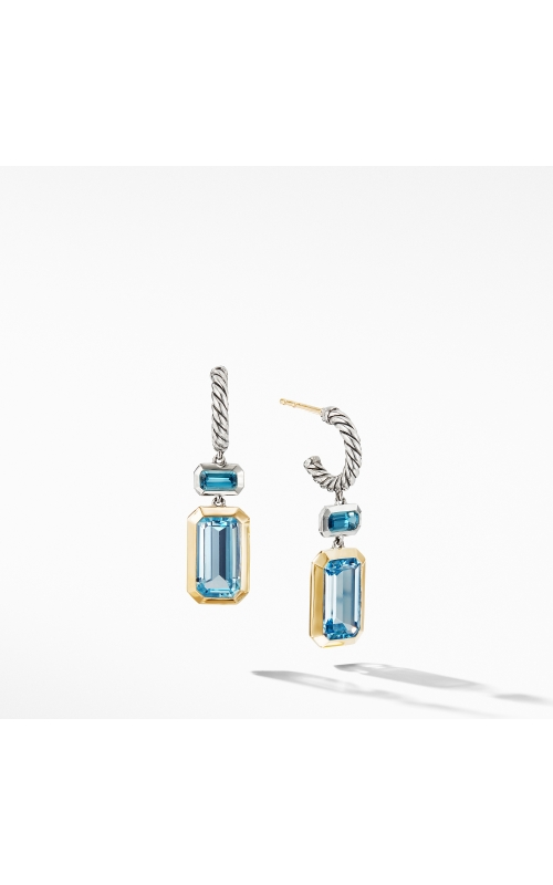Novella Drop Earrings with Blue Topaz and 18K Yellow Gold product image