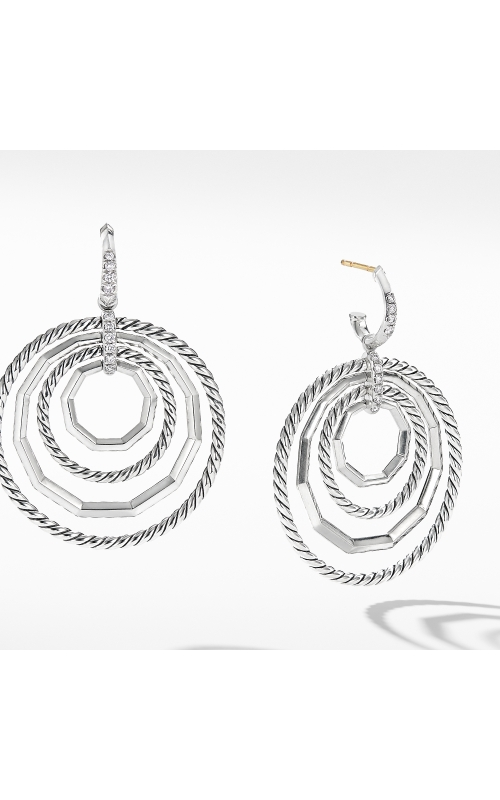 Stax Large Drop Earrings with Diamonds product image