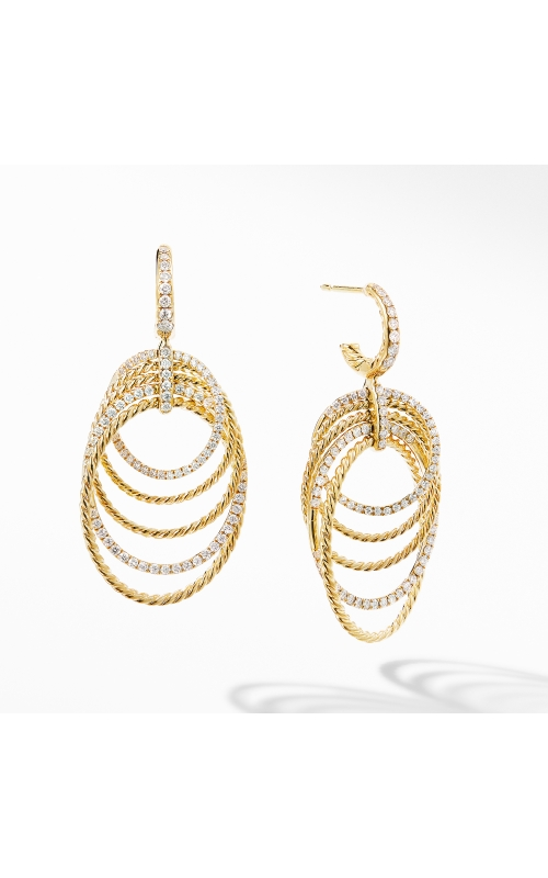 DY Origami Drop Earrings in 18K Yellow Gold with Diamonds product image