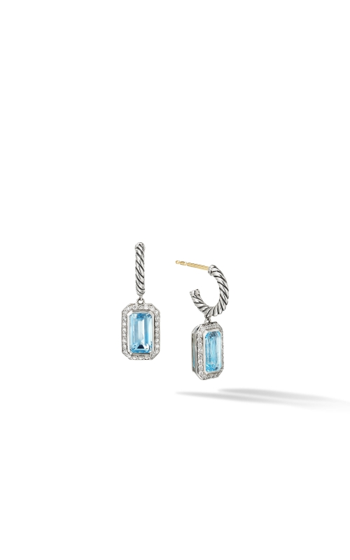 Novella Drop Earrings with Blue Topaz and Pavé Diamonds product image