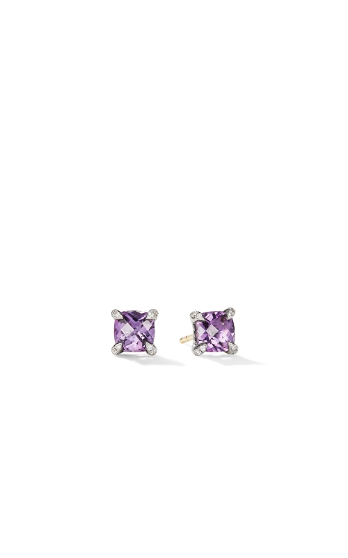 Chatelaine® Stud Earrings with Amethyst and Diamonds product image