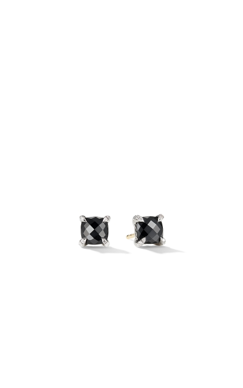 Chatelaine® Stud Earrings with Black Onyx and Diamonds product image
