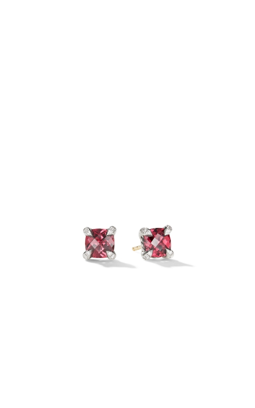 Chatelaine® Stud Earrings with Rhodalite Garnet and Diamonds product image
