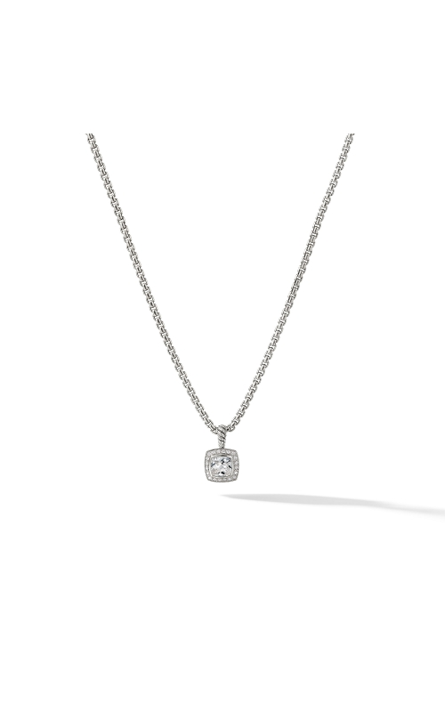 Petite Albion® Pendant Necklace with White Topaz and Diamonds product image