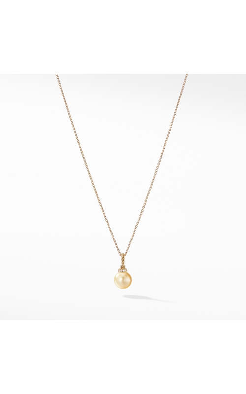 Solari Pendant Necklace with South Sea Golden Pearl and Diamonds in 18K Gold product image