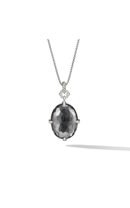 Chatelaine® Statement Pendant Necklace in Grey Orchid with Diamonds product image