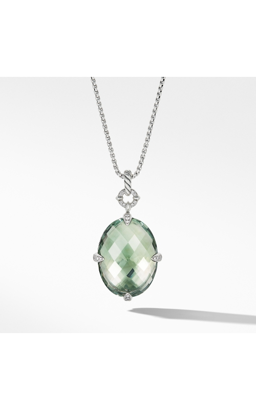 Chatelaine® Statement Pendant Necklace in Prasiolite with Diamonds product image