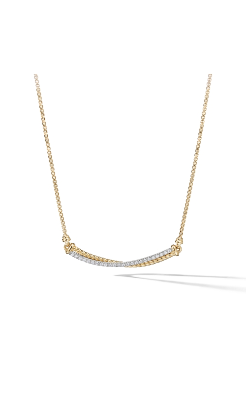 Crossover Bar Necklace in 18K Gold with Diamonds product image
