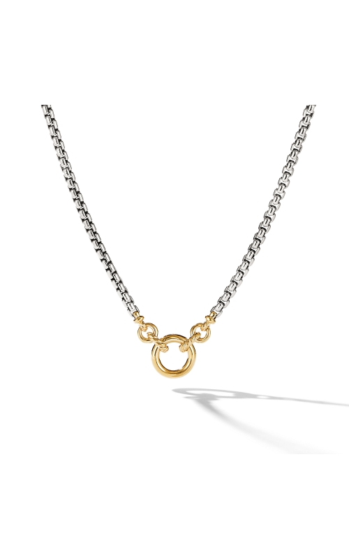 Amulet Vehicle Box Chain Necklace with 18K Yellow Gold product image