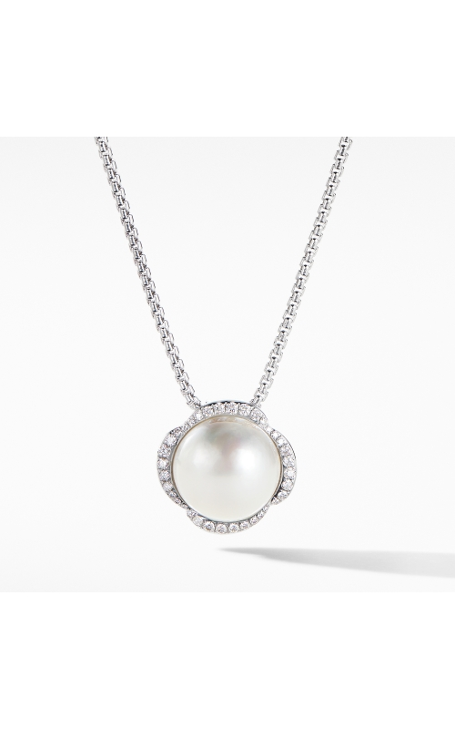 Continuance Pearl Pendant Necklace with Diamonds product image