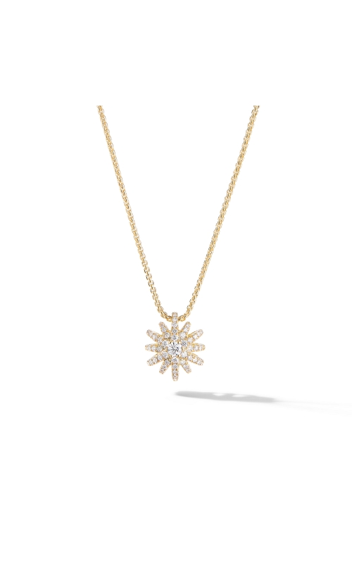 Starbust Pendant Necklace in 18K Yellow Gold with Pavé Diamonds product image