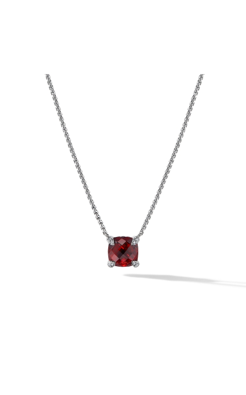 Chatelaine® Pendant Necklace with Rhodalite Garnet and Diamonds product image
