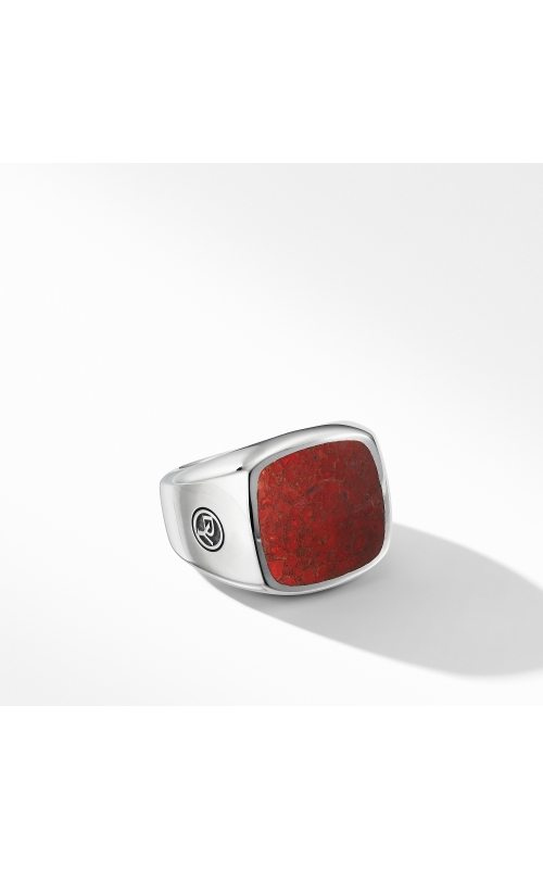 Exotic Stone Signet Ring with Red Agate product image