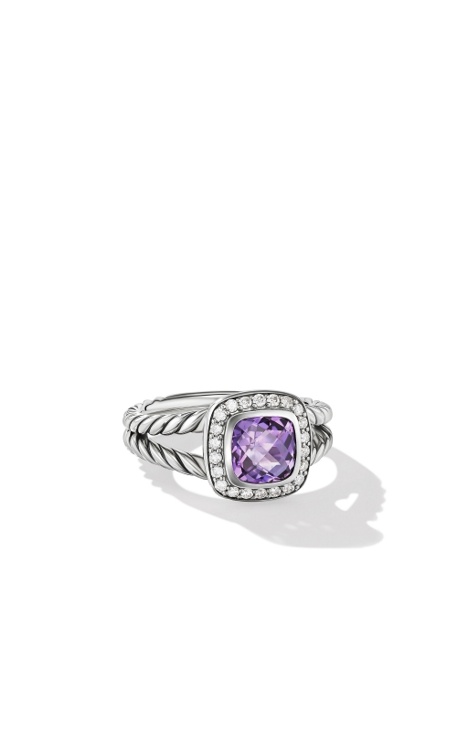 Petite Albion® Ring with Black Orchid and Diamonds product image