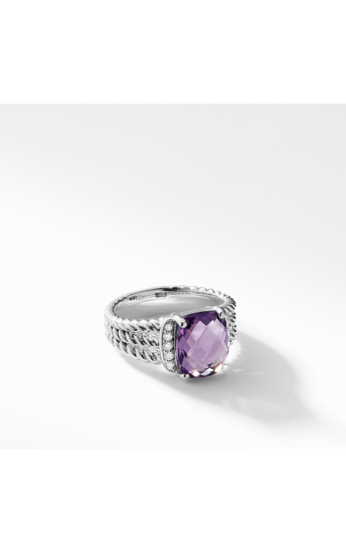 Petite Wheaton Ring with Amethyst and Diamonds product image