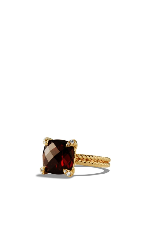 Ring with Garnet and Diamonds in 18K Gold product image
