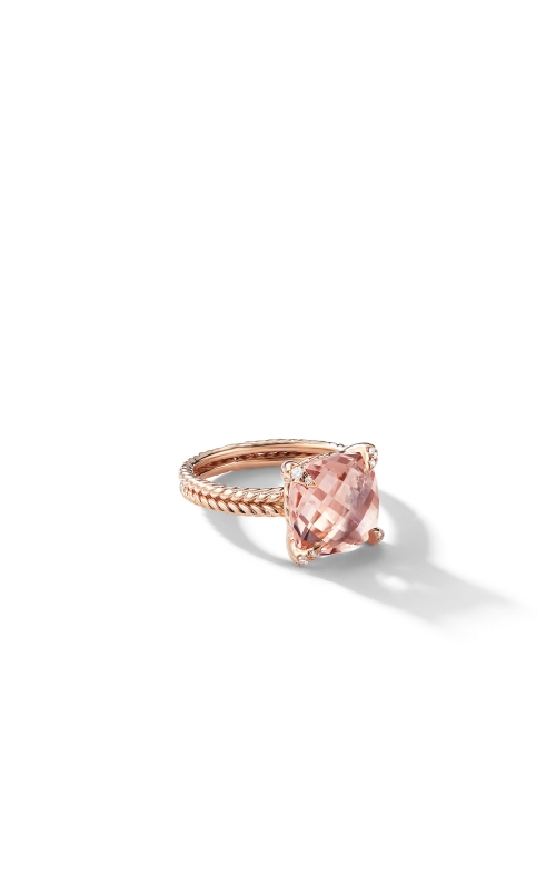 Chatelaine® Ring with Morganite and Diamonds in 18K Rose Gold product image