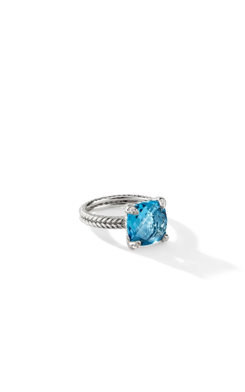 Chatelaine® Ring with Blue Topaz and Diamonds, 11mm product image