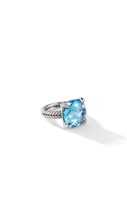 Chatelaine® Ring with Blue Topaz Diamonds 1 product image