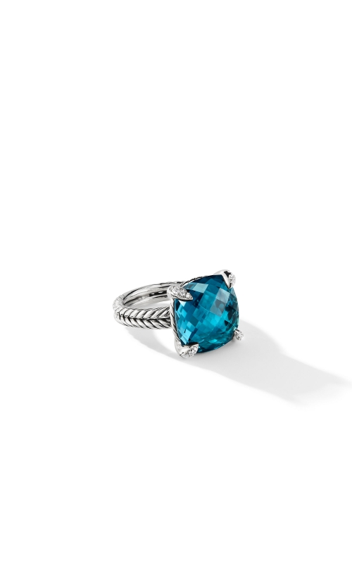 Ring with Hampton Blue Topaz and Diamonds product image