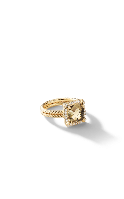 Châtelaine Pave Bezel Ring with Champagne Citrine and Diamonds in 18K Gold mm product image