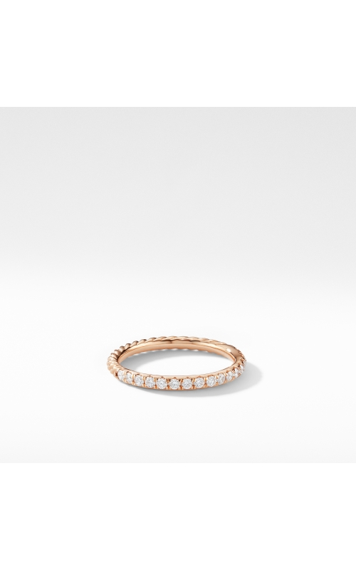 Cable Pavé Band Ring in 18K Rose Gold with Diamonds product image
