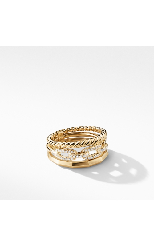 Stax Narrow Ring with Diamonds in 18K Gold product image