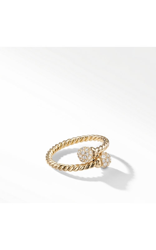 Petite Solari Bypass Ring with Diamonds in 18K Gold product image