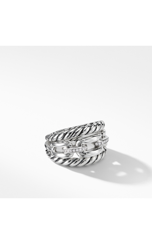 Wellesley Link™ Three-Row Ring with Diamonds product image
