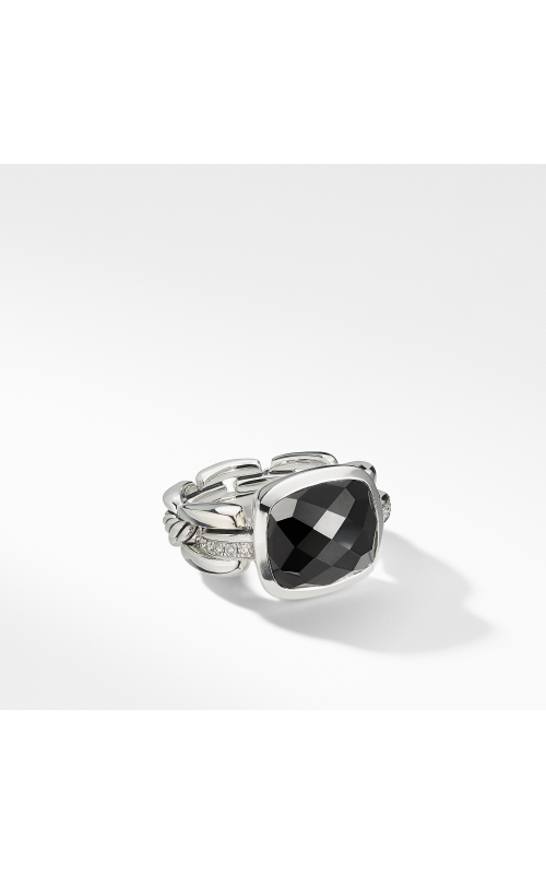 Wellesley Link Statement Ring with Black Onyx and Diamonds product image