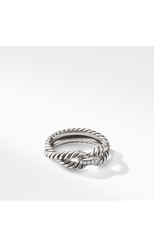 Cable Loop Ring with Diamonds product image