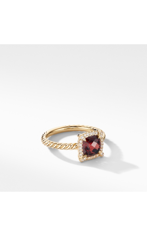 Petite Chatelaine® Pavé Bezel Ring in 18K Yellow Gold with Garnet product image