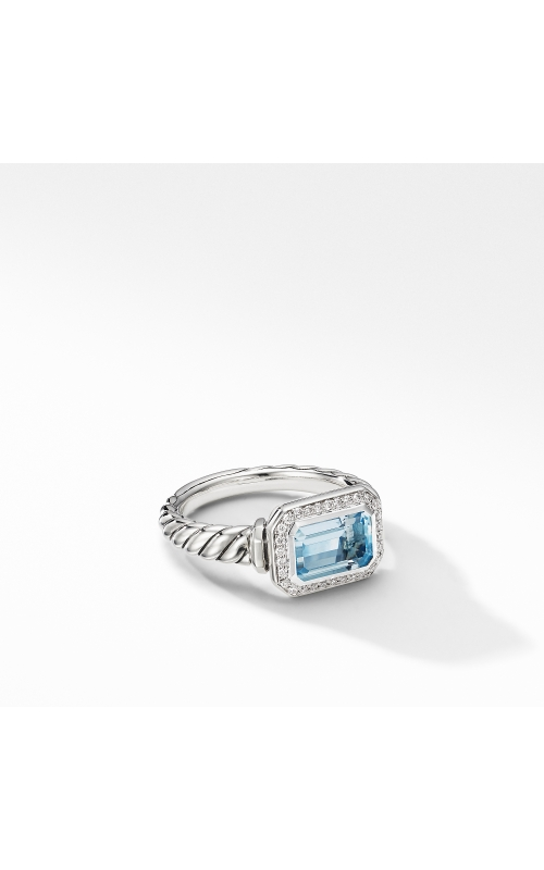 Novella Ring with Blue Topaz and Pavé Diamonds product image