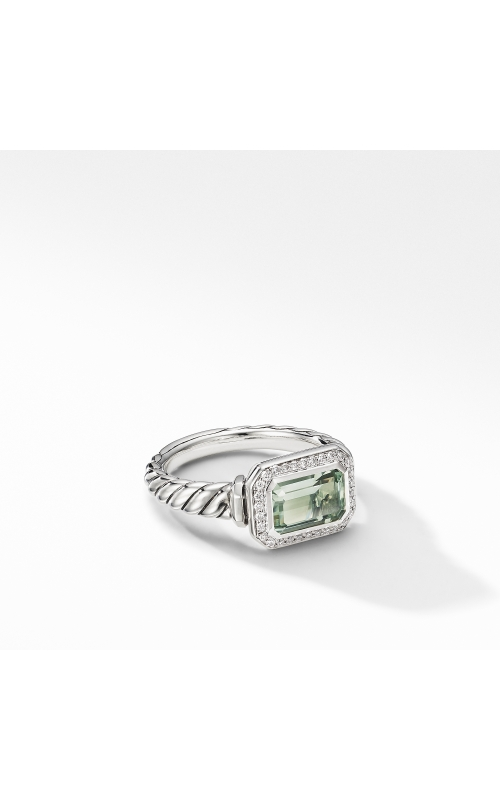 Novella Ring with Prasiolite and Pavé Diamonds product image