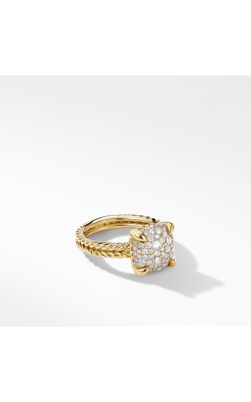 Chatelaine® Ring in 18K Yellow Gold with Full Pavé Diamonds product image